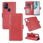 For OnePlus Nord N10 5G Dual-side Magnetic Buckle Horizontal Flip Leather Case with Holder & Card Slots & Wallet(Red)