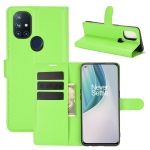 For OnePlus Nord N10 5G Litchi Texture Horizontal Flip Protective Case with Holder & Card Slots & Wallet(Green)
