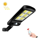 10W Solar Power Human Body Induction + Light Control Street Light Multi-Function Remote Control Outdoor Lighting 6COB with RC