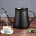 Stainless Steel Hand Punch Pot Hanging Ear Pot Coffee Pot Thickened Mini Pot Teflon Thin Mouth Pot, Style: Without Lid