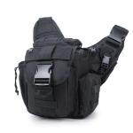 B03 One-Shoulder Messenger Waterproof Oxford Cloth Camera Bag(Black)