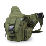 B03 One-Shoulder Messenger Waterproof Oxford Cloth Camera Bag(Army Green)