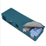 2 PCS Non-Woven Bed Storage Box Foldable Quilt Clothes Dust-Proof & Moisture-Proof Storage Bag, Size: 97x33x15cm(Blue)