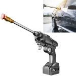 156W 12V Lithium Battery+Cigarette Lighter D Car Washing Machine High Pressure Water Pump Household Car Watering Spray
