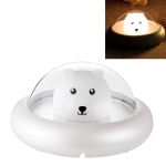 1W Bear Night Light USB Rechargeable LED Children Sleeping Bedside Night Light(White)