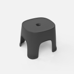 2 PCS Household Bathroom Row Stools Plastic Stools Thickened Low Stools Square Stools Small Benches, Colour: Black Children