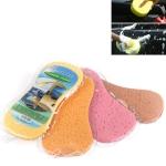 10 PCS Honeycomb Car Wash Sponge Large Vacuum Compression Sponge Car Beauty Waxing Tool(Random Colour Delivery)