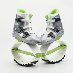Jumping Shoes Bounce Shoes Indoor Sports Rebound Shoes, Size: 33/35 (Green And White)