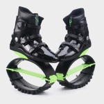 Jumping Shoes Bounce Shoes Indoor Sports Rebound Shoes, Size: 36/38  (Green And Black)