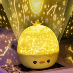 Crown Duck Projection Lamp  Starry Sky Projection Lamp  LED Music Rotating Creative Night Light, Style: Music Box Verison