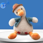 Repeat Duck Tricky Duck Learn Talking Singing Plush Duck Toy, Style:Bluetooth+Recording