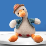 Repeat Duck Tricky Duck Learn Talking Singing Plush Duck Toy, Style:Remote Control+Recording