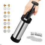 Multi-Function Stainless Steel Piping Gun Set Cookie Biscuits Hand Pressing Biscuit Machine Household DIY Baking Tools