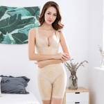 Thin One-piece Abdomen Waist And Hips Seamless Body Corset (Color:Skin Colour Size:L)