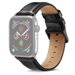 DW Black Buckle Leather Strap For Apple Watch Series 6 & SE & 5 & 4 44mm / 3 & 2 & 1 42mm (Black)