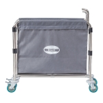 [US Warehouse] Stainless Steel  Folding Cloth Grass Cart with Handle, Size: 35x20x31.5cm