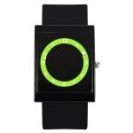 addies MY-1501 Fashion Waterproof Luminous Circle Jelly Silicone Strap Watch (Black)