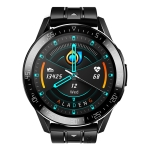 GT2 1.3 inch Full-fit Round Screen Smart Watch, Support Bluetooth Call / Heart Rate Monitor / Temperature Monitoring (Black)