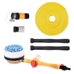 Car Cleaning Tools Chenille Automatic Rotating Car Wash Brush, Style: Water Brush + 10m Water Pipe
