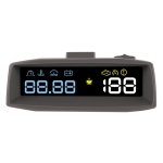4F Car 3.7inch OBD HUD Head-up Display Support Mileage / Fixed Speed Cruise