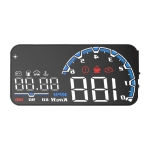 H300 Car 5 inch OBD HUD Head-up Display Support Engine Failure Alarm / Water Temperature Alarm Voltage Alarm