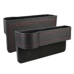 2 PCS Car Multi-functional Principal And Deputy Driver Seat Console Leather Box (Black)