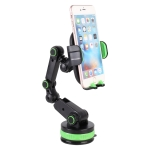 MODEL ZP-X0466 Car 360 Degree Rotating Telescopic Folding Round Suction Cup Mobile Phone Holder (Green)