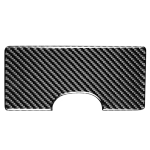 Car Carbon Fiber Cup Holder Decorative Sticker for Mitsubishi Lancer-ex / EVO / Fortis 9-10th Generation, Left and Right Drive Universal