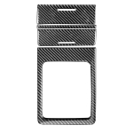 Car Carbon Fiber Storage + Gear Decorative Sticker for Mitsubishi Lancer EVO (Only GT / GTS) 2010-2015, Left and Right Drive Universal