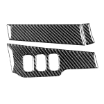 3 PCS Car Carbon Fiber Driver Light + Dashboard Decorative Sticker for Mitsubishi Lancer EVO 2008-2015, Left Drive