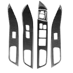 6 PCS Car Carbon Fiber Glass Lift Panel Decorative Sticker for Mitsubishi Lancer EVO 2008-2015, Right Drive