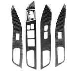6 PCS Car Carbon Fiber Glass Lift Panel Decorative Sticker for Mitsubishi Lancer EVO 2008-2015, Left Drive
