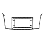 2 PCS Car Carbon Fiber Navigation System Display Decorative Sticker for Mitsubishi Lancer EVO 2008-2015, Left and Right Drive Universal