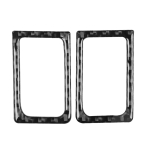 2 PCS Car Carbon Fiber Left and Right Door Lock Decorative Sticker for Nissan GTR R35 2008-2020, Left and Right Drive Universal