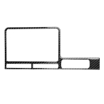 Car Carbon Fiber Navigation Display Frame Decorative Sticker for Nissan GTR R35 2008-2016, Right Drive