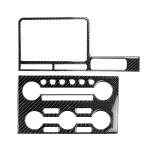 2 PCS Car Carbon Fiber Navigation Instrument Decorative Sticker for Nissan GTR R35 2008-2016, Right Drive