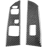 2 PCS Car Carbon Fiber Left and Right Lifting Panel Decorative Sticker for Mazda RX8 2004-2009, Left Drive Low-configured