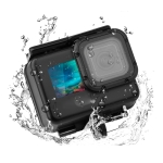 50m Waterproof Housing Protective Case with Buckle Basic Mount & Screw for GoPro HERO9 Black (Black)