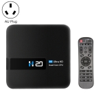 H20 4K Smart TV BOX Android 10.0 Media Player wtih Remote Control, Quad Core RK3228A, RAM: 1GB, ROM: 8GB, 2.4GHz WiFi, AU Plug