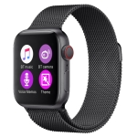 H55Pro 1.4 inch TFT Screen Smart Bluetooth Watch, Support Sleep Monitor / Heart Rate Monitor / Blood Pressure Monitor, Style: Steel Strap(Black)
