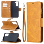 For Samsung Galaxy S30 Plus Lambskin Texture Pure Color Horizontal Flip PU Leather Case with Holder & Card Slots & Wallet & Lanyard(Yellow)