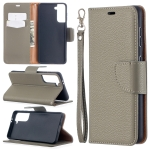 For Samsung Galaxy S30 Litchi Texture Pure Color Horizontal Flip Leather Case with Holder & Card Slots & Wallet & Lanyard(Grey)