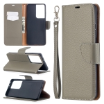 For Samsung Galaxy S30 Ultra Litchi Texture Pure Color Horizontal Flip Leather Case with Holder & Card Slots & Wallet & Lanyard(Grey)