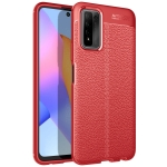 For Huawei Honor 10X Lite Litchi Texture TPU Shockproof Case(Red)