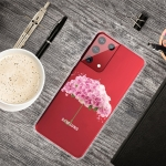 For Samsung Galaxy S30 Colored Drawing Clear TPU Protective Cases(Flower Umbrella)