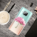 For Xiaomi Mi 10T Lite 5G Colored Drawing Clear TPU Protective Cases(Flower Umbrella)