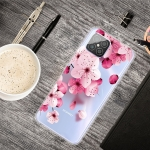 For Huawei Nova 8 SE Colored Drawing Clear TPU Protective Cases(Cherry Blossoms)