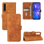 For Rakuten Big Solid Color Skin Feel Magnetic Buckle Horizontal Flip Calf Texture PU Leather Case with Holder & Card Slots & Wallet(Brown)