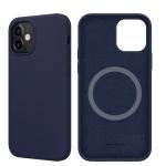 NILLKIN Flex Pure Pro Series Silicone Magsafe Case For iPhone 12 mini(Blue)