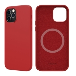 NILLKIN Flex Pure Pro Series Silicone Magsafe Case For iPhone 12 / 12 Pro(Red)